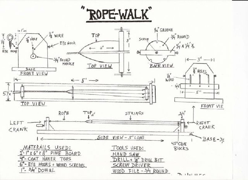 ROPEWALK PLAN