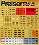 Preiser Cargo Decals