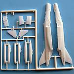 Fuselage, intakes, stabilizers, drop tank sprues