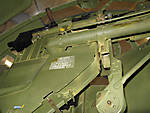 Looking up into .50 caliber turret gun mount